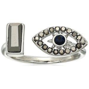 rebecca minkoff // multi-stone evil eye ring